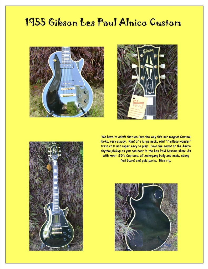 Photos of a '55 Les Paul Alnico Custom.