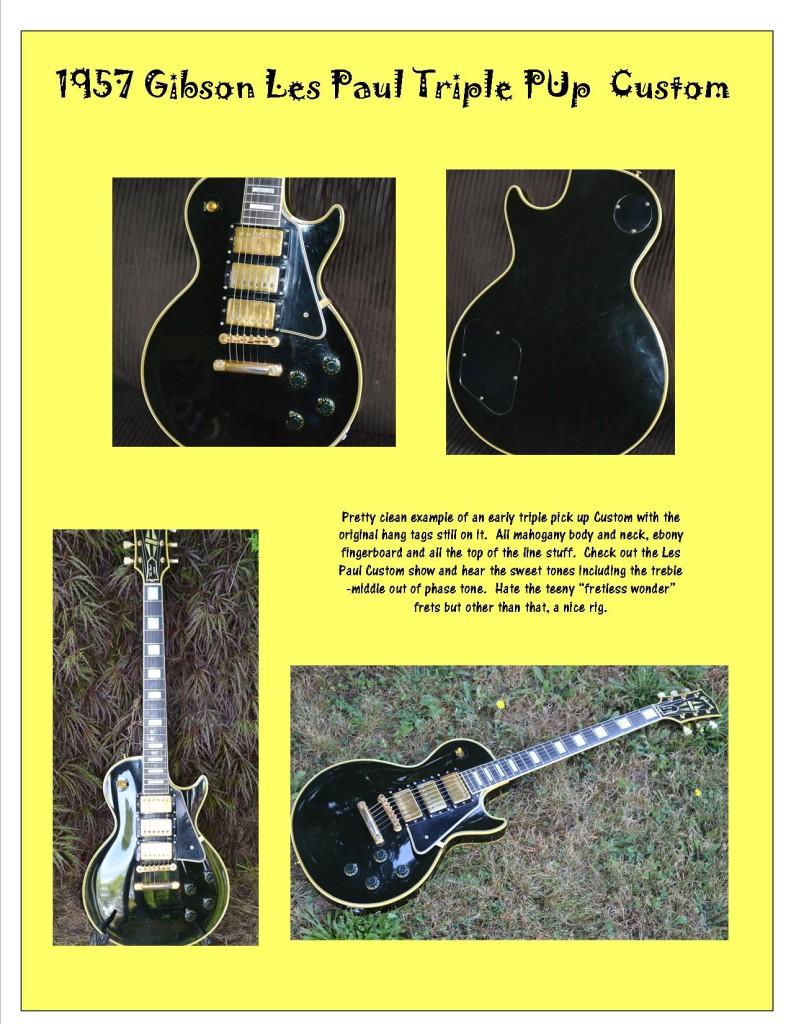 Photos of a '57 Les Paul Custom.