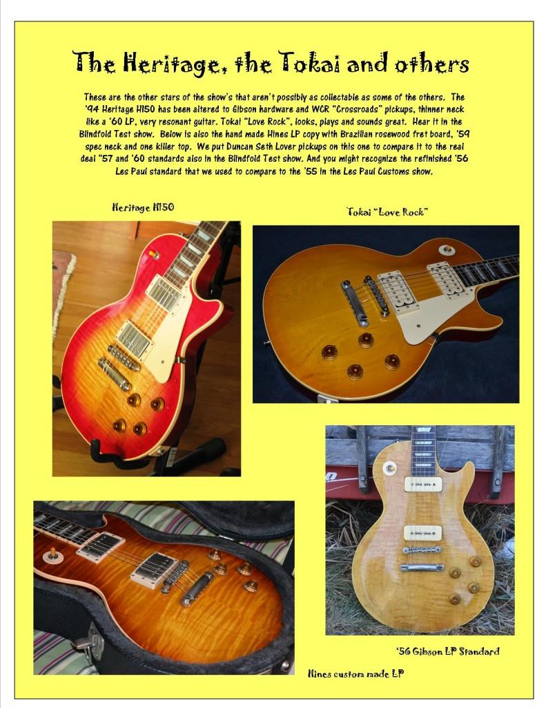 Heritage and Tokai guitars