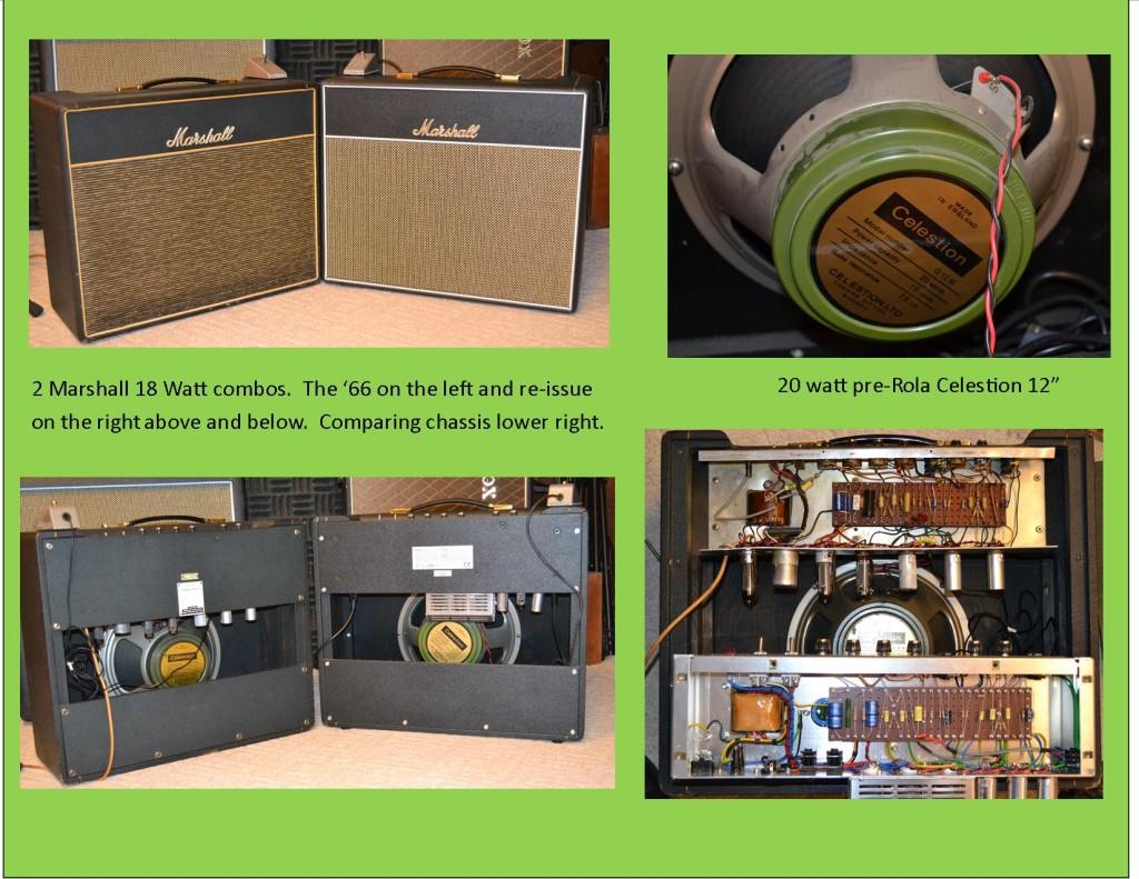 Marshall 18 watt Bluesbreaker combos.