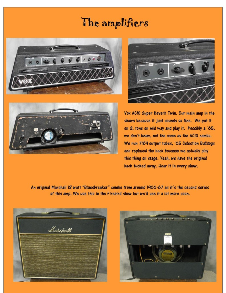 Photo display of different amps.